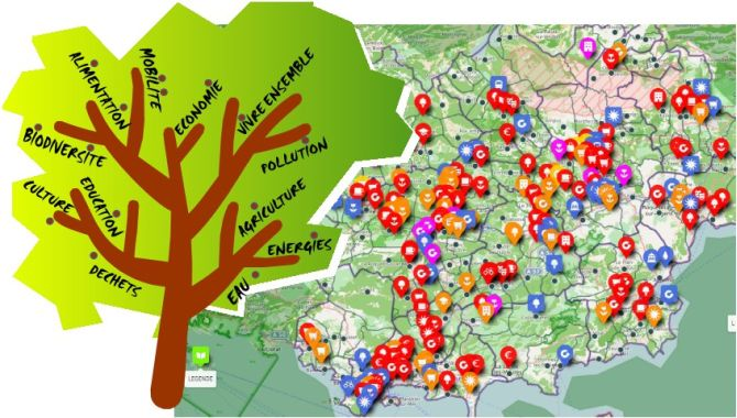 Carte interactive des initiatives